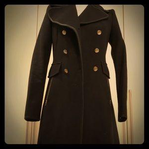 Zara military style wool coat.